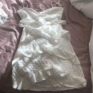 Privacy Pls at Revolve White ruffle Dress